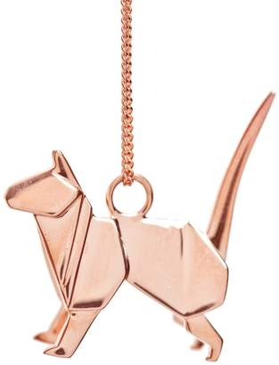 Origami Jewellery Cat Necklace Rose Gold