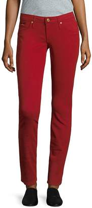 Robin's Jean Women's Five-Pocket Skinny Jeans - Burgundy, Size 26 (2-4)