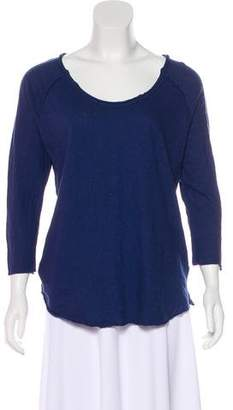 James Perse Knit Scoop Neck Top