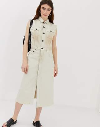Cheap Monday organic cotton denim button up dress