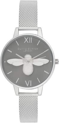 Olivia Burton 3D Bee Stainless Steel Analog Watch