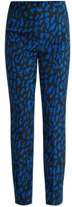 Diane von Furstenberg Belmont Print Skinny Leg Trousers - Womens - Blue Multi