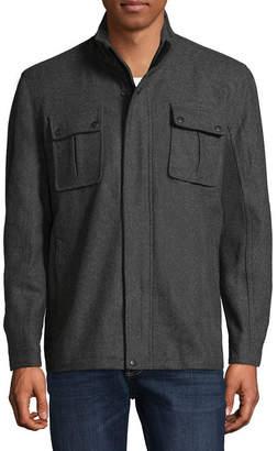 VINTAGE LEATHER Vintage Leather Hipster Wool Blend Jacket