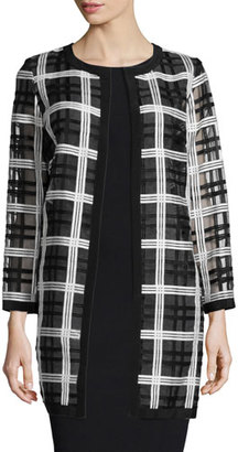 Milly Plaid Organza Cocktail Coat $595 thestylecure.com