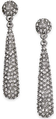 INC International Concepts I.N.C. Silver-Tone Crystal Elongated Drop Earrings, Created for Macy's