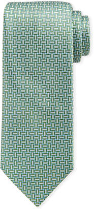 Brioni Basketweave Silk Tie