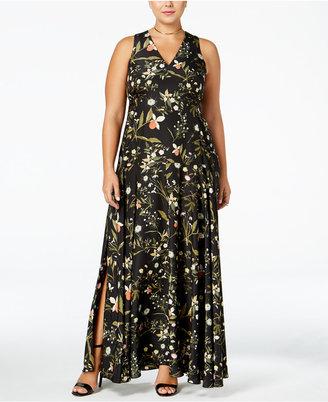 RACHEL Rachel Roy Curvy Trendy Plus Size Floral-Print Dress $199 thestylecure.com