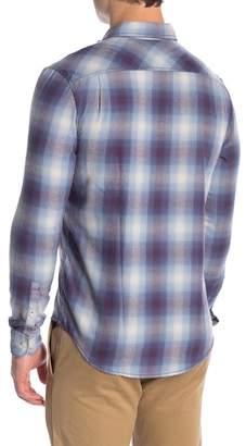 Original Penguin 90's Ombre Plaid Long Sleeve Slim Fit Shirt