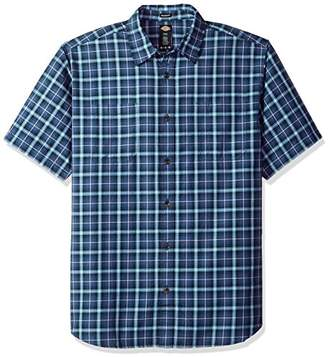 Dickies Men's Cotton Yarn Dyed Plaid Short Sleeve Shirt