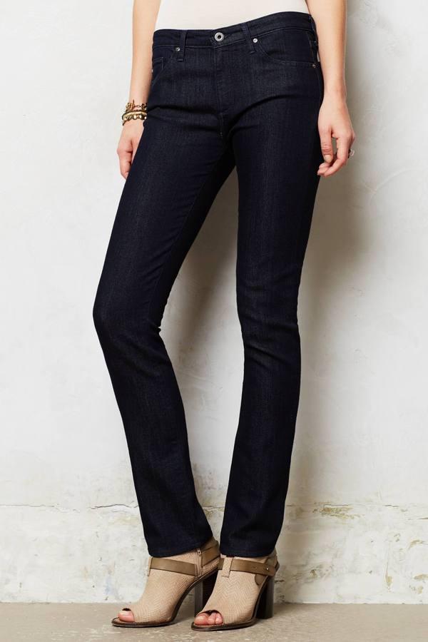 AG Jeans Mid-Rise Stevie Slim Straight Jeans