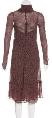 Etoile Isabel Marant Printed Silk Midi Dress