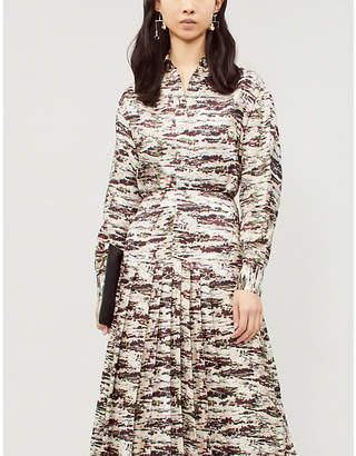 Victoria Beckham Camouflage-print silk shirt