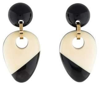 Marni Resin & Horn Drop Earrings