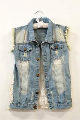 ML Kids Denim Ruffle Vest