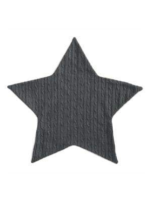 Elegant Baby Baby's Faux Fur-Lined Cable-Knit Star Blanket
