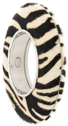 Christian Dior Pre-Owned 1990's zebra pyramid bangle