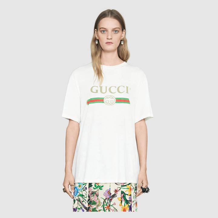 Gucci logo cotton t-shirt 2