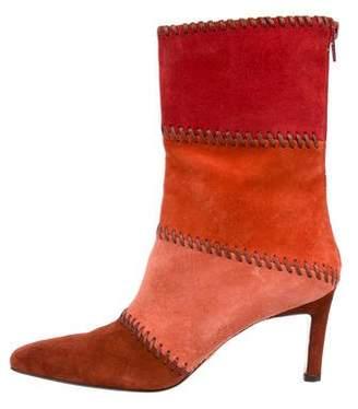Salvatore Ferragamo Colorblock Mid-Calf Boots