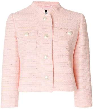 Moschino cropped pearl button jacket