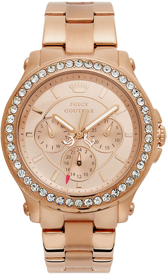 Juicy CoutureJuicy Couture Watch, Women's Pedigree Rose Gold-Tone Stainless Steel Bracelet 38mm 1901050