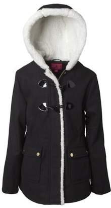 Pink Platinum Sherpa Lined Wool Blend Toggle Coat (Little Girls & Big Girls)