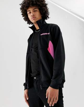 adidas graphic track jacket in black