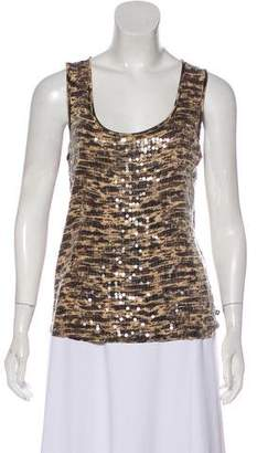 MICHAEL Michael Kors Printed Embellished Top