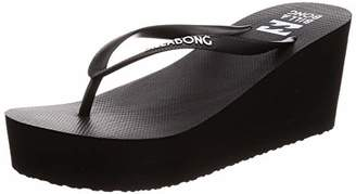 Billabong (ビラボン) - [ビラボン] レディース ビーチサンダル ウェッジ (EVA フットベッド) [ AJ013-958 / SANDAL ] かわいい 厚底 ビーサン BLK_ブラック US M/23(23 cm)