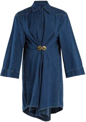 MM6 MAISON MARGIELA Wraparound-tie cotton-denim shirtdress