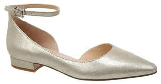 Franco Sarto Slide Leather Ankle Strap Flat