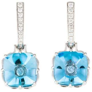 Frederic Sage 18K Topaz & Diamond Monet Drop Earrings