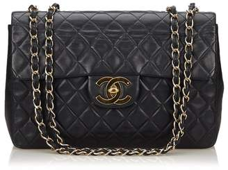 Chanel Vintage Classic Maxi Lambskin Leather Single Flap