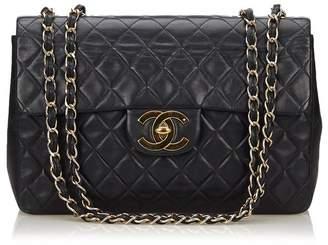 Chanel Vintage Classic Maxi Lambskin Leather Single Flap