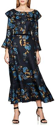 Alberta Ferretti WOMEN'S FLORAL-PRINT SILK COCKTAIL DRESS