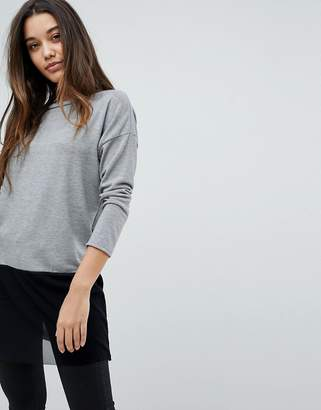 Wal G Knit Top With Mesh Trim