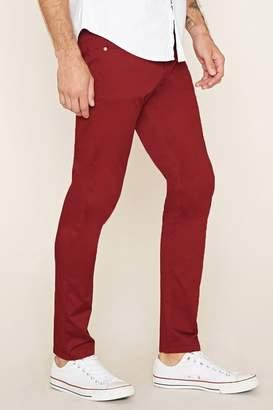 Forever 21 Cotton-Blend Slim Fit Pants