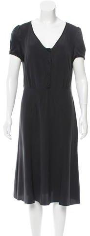 Marc JacobsMarc Jacobs Silk Midi Dress