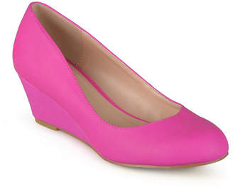 Journee Collection Womens Dolup-Wd Pumps Slip-on Round Toe Wedge Heel
