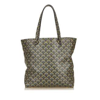 Miu Miu Madras Blue Leather Handbag