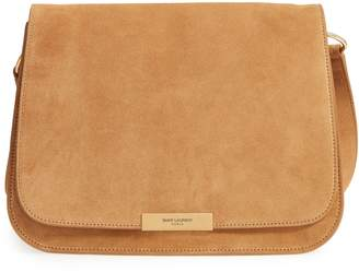 36f954590033a Saint Laurent Amalia Suede Flap Shoulder Bag