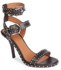 Givenchy Embellished Leather Ankle-Strap Sandals