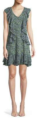 MICHAEL Michael Kors Wild Flower Cascade-Ruffle Dress