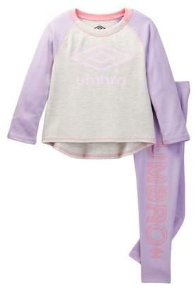 Umbro Long Sleeve Raglan Shirt & Leggings Set (Toddler Girls)