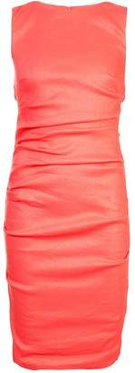 Nicole Miller fitted ruched dress