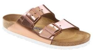 Birkenstock Arizona Metallic Leather Buckle Sandals