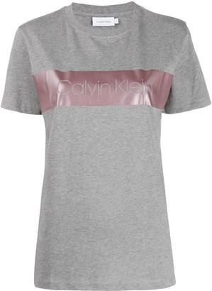 Calvin Klein metallic-band logo T-shirt