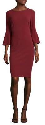 Bell-Sleeve Sheath Dress $134 thestylecure.com