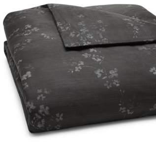 Vera Wang Charcoal Floral Duvet Cover, Queen