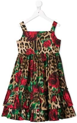 Dolce & Gabbana leopard print ruffled dress