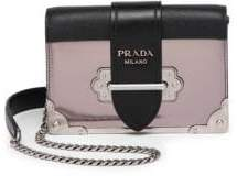 Prada Small Metallic Cahier Leather Crossbody Bag